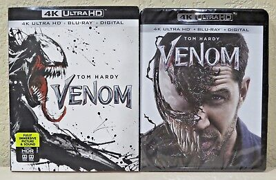 Venom (4K Ultra HD + Blu-ray + Digital) with Slip Cover - NEW>FREE SHIPPING
