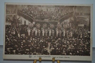 CPA Carte postale Publicitaire Loterie Coloniale Lotto Kursaal Ostende