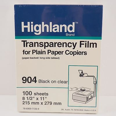 Highland Transparency Film no. 904 - 100 sheets. New & Sealed