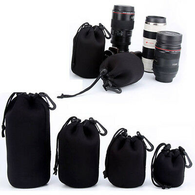 Waterproof Shockproof Neoprene Matin Camera Lens Pouch Soft Case Protector Bag