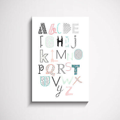 Pretty Pattern Alphabet Kids Wall Art Print Picture Painting Poster and Moder...