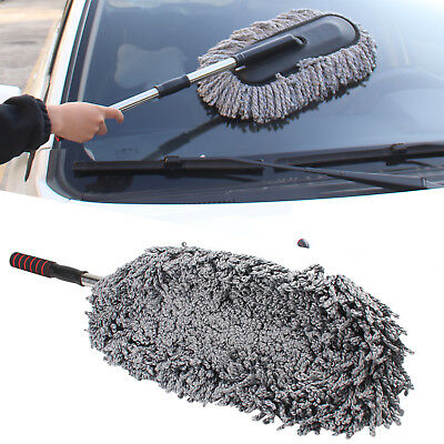 Telescoping Car Wash Cleaning Brush Duster Dust Wax Mop Microfiber Dusting Tool