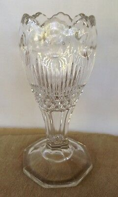 VICTORIAN CLEAR GLASS VASE C.1900's