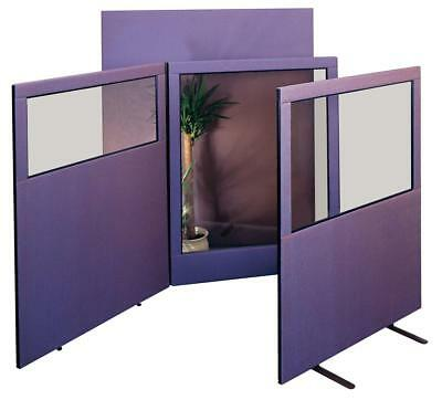 Office Vision See Through Floor Divider Partition Screens - 3 heights - 3 Styles