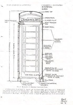 Red GPO / BT Telephone Box / K6 Kiosk. 1971 Schematic Diagram. A4.