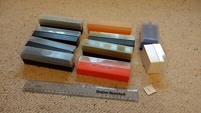 Job Lot  of 10 Vintage  35mm Photo Slide Storage Boxes Various Sizes     No 1