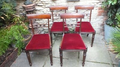 Set of 4 William IV th mahogany dining chairs