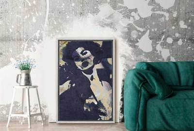 Home Decor Abstract Retro Lady | Canvas Wall Art Print Stretched Framed Picture