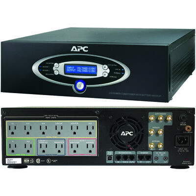APC J15BLK 12-Outlet J-Type Power Conditioner with Battery Backup (Black; 4,500