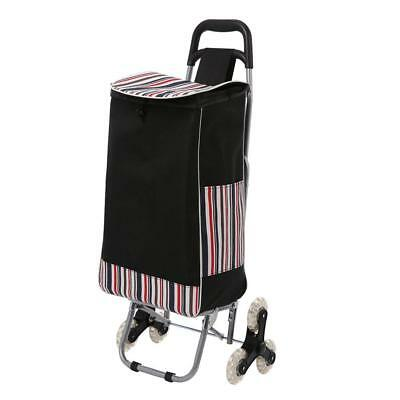 Folding Shopping Mobility Trolley Climbing Cart Market Laundry Flat Fold Cage