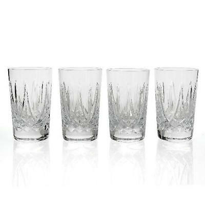 Waterford Crystal Fitzgerald Set of 4 (10 oz) Wedge Cut Highball Glasses
