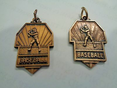 Vintage Set of 2 ROTARY Baseball Sports Award Medals 1964 1967 1st Place