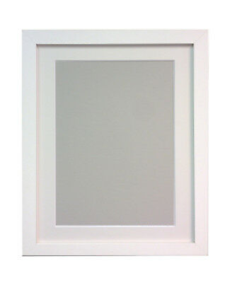 Large White Photo Picture Frames with White Mount 16x12 Image Size 12x8 Inch H7