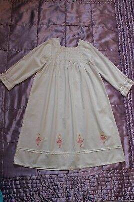 (Ref 5) Girls Angel  100% Cotton Traditional Long Sleeve Night Dress Age 8-9