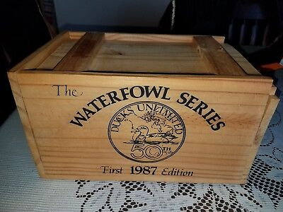 Ducks Unlimited 1987 Waterfowl Series Wood Box Only!!! Crate Empty
