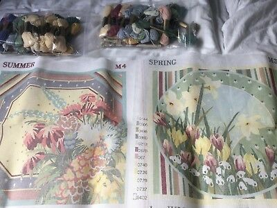 2 Tapestry Cushion Kits Spring And Summer