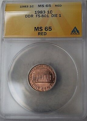 "1983 ""DDR"" Lincoln Memorial Cent ""ANACS MS65 RED"" *Free S/H After 1st Item*"