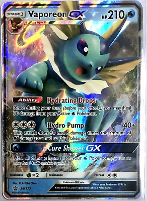 Pokemon  - Vaporeon GX SM172 - SM Black Star Promo - NM/M