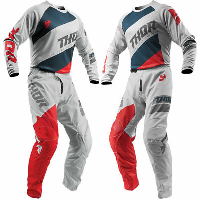 Thor 2019 Sector Shear MX Jersey/Pant Bundle - Grey/Red