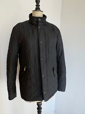 Mens Barbour Chelsea Sports Quilted Jacket Coat Black Small