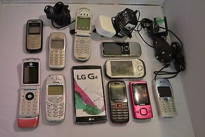 Job Lot x10 Junk Mobile Phones Spares or Repair x1 Dummy & x4 Chargers **RUGo9sb