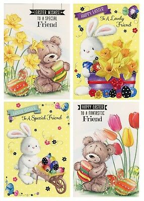 To A Special Friend At Eastertime Easter Card 1St P&P Various Design