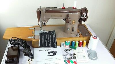 Semi-Industrial SINGER 306K SEWING MACHINE, ZIGZAG,sew Leather, Serviced&PATtest