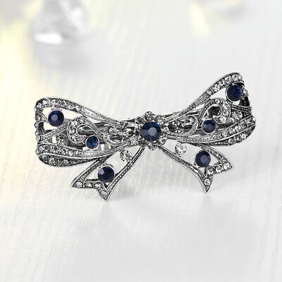New Hot Sell Accessory Jewelry Black Butterfly Bow Wedding Party Hairpin Clips