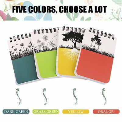 Portable Mini Hard Cover Coil Notebook Home Daily Office Business Notepad ZS#