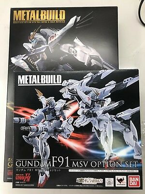 Bandai Metal Build Gundam F91 Action Figure JAPAN + MSV Heavily armed option set