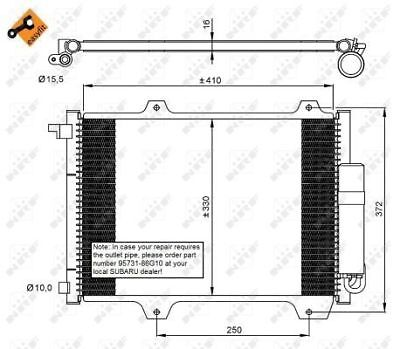 Air Con Condenser 35907 NRF AC Conditioning 9531186G00 Top Quality Replacement