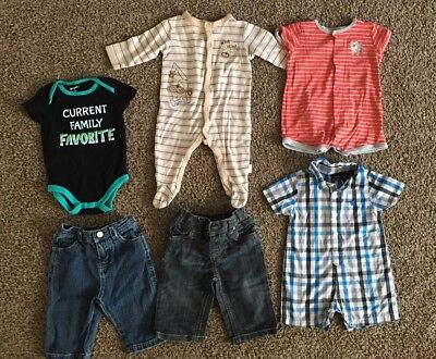 6 Pc. Lot Of Baby Boy Clothes Size 3-6 Months