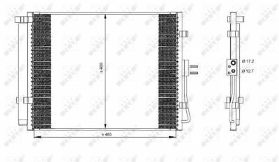 Air Con Condenser 35984 NRF AC Conditioning 976062K000 Top Quality Replacement