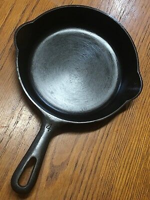 Griswold 4 Cast Iron Skillet 702 B Erie Pa -Restored Sits Flat Seasoned Free S/H