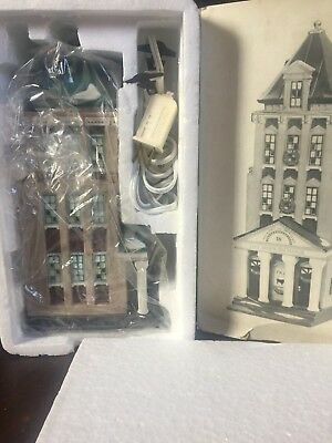 Dept. 56 Brokerage House Stock Exchange Christmas in City Lighted Village 58815