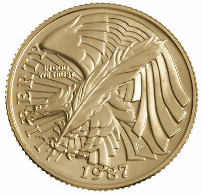 1987-W Constitution $5 UNC Gold Commemorative