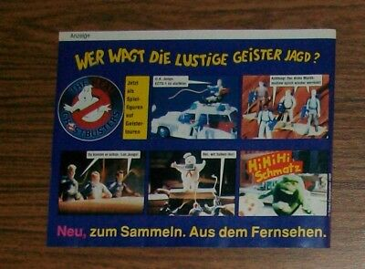 Seltene Werbung Tonka THE REAL GHOSTBUSTERS Ecto-1 Marshmallow Man Slimer 1989