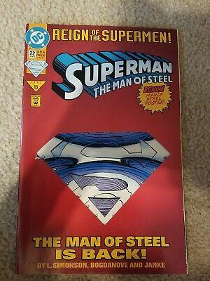 Superman: The Man of Steel #22 Collector's in NM condition. DC comics
