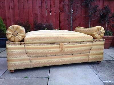 Huge Antique Country Farmhouse Window Seat Chaise Lounge Otterman