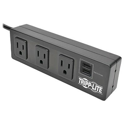 Tripp Lite Protect It! 3-outlet Surge Protector With 2 Usb Ports & Desk