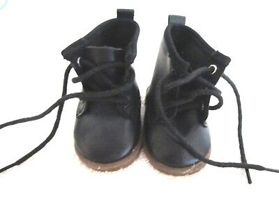 Pleasant Company American Girl Doll Black Laced Up Boots Authentic Hiking