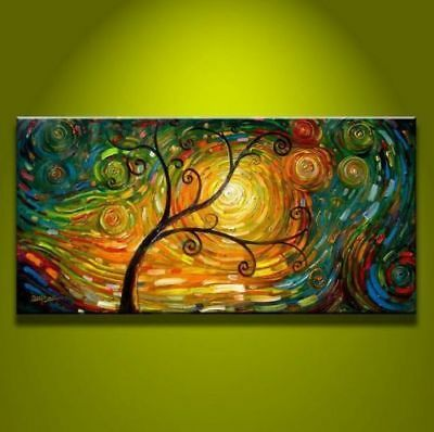 ZOPT176 abstract charm landscape 100% hand painted art OIL PAINTING ON CANVAS