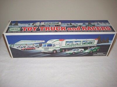 Hess 1997 Toy Truck And Racers New In Box Never Used