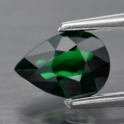 Top! VVS 0.44ct 6x4.2mm Pear Natural Medium Green Tsavorite Garnet