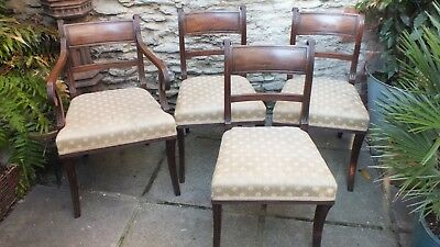 Set of 4 Regency period mahogany dining chairs