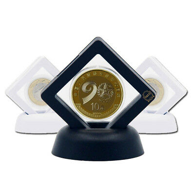 10pcs 3D Floating Coin Jewelry Display Frame Holder Box Case Stand