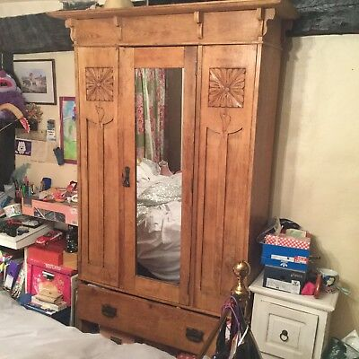 Oak Arts and Crafts wardrobe