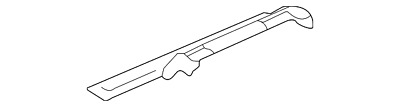 Left Genuine GM 10359439 Door Sill Trim Plate Front