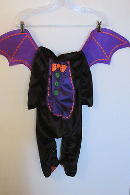 Incharacter Bat Halloween Costume~Size Small Infant/Toddler~NO HEAD PIECE