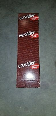 EZ Wider Double Wide Rolling Papers 50ct Booklet display or loose booklet New!